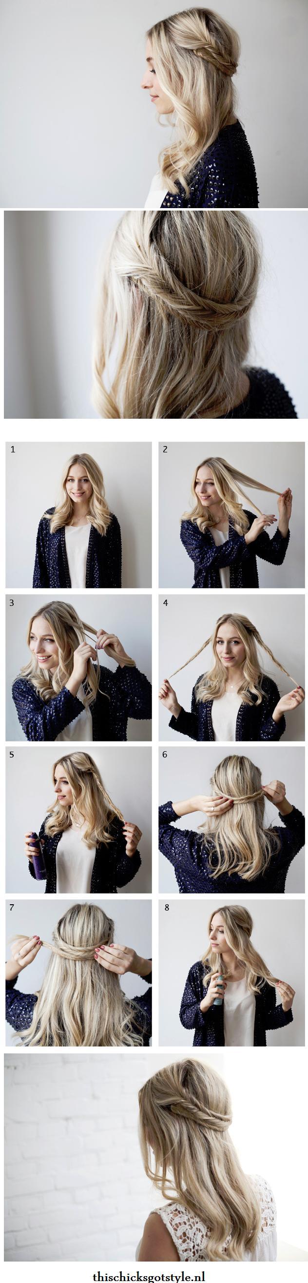 fishtail braided headband tutorial