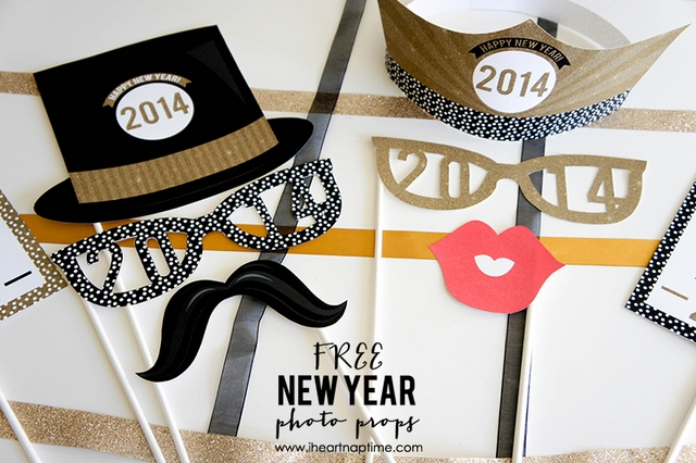new year props free printables