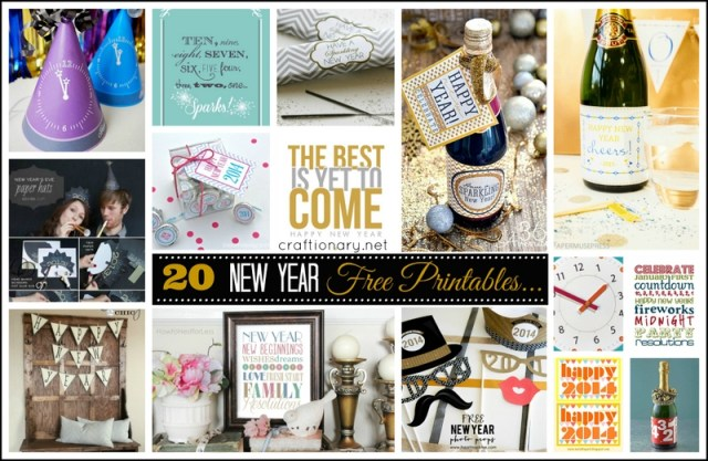 new year printables new year eve ideas
