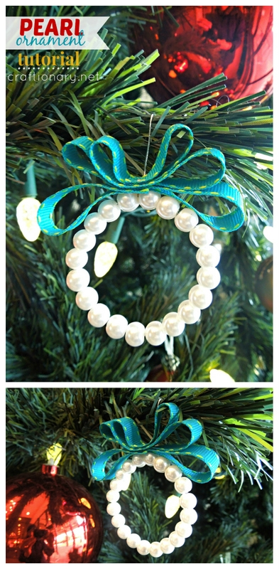 Christmas DIY Pearl ornaments