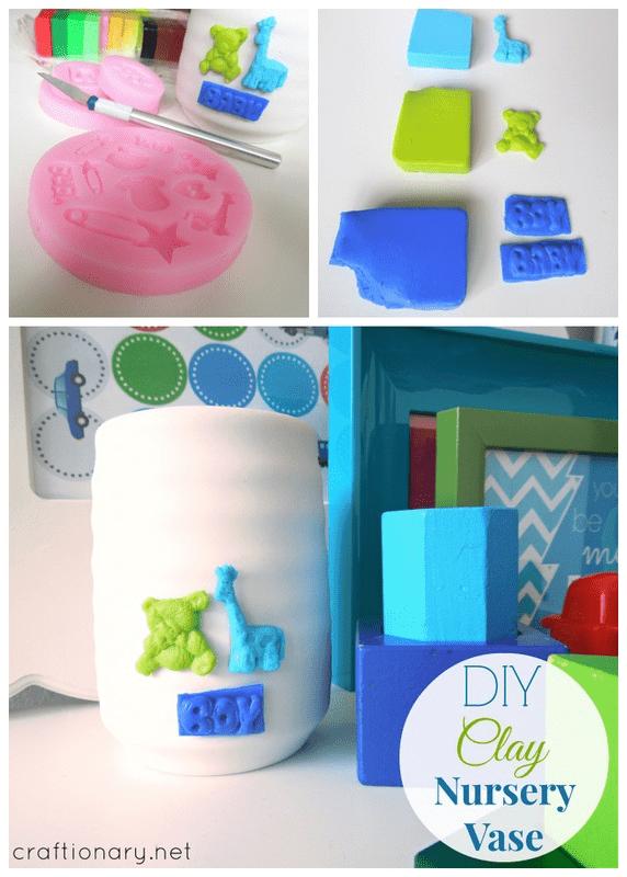 DIY clay tutorial vase