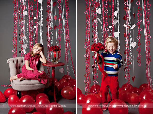 valentine kids posing ideas