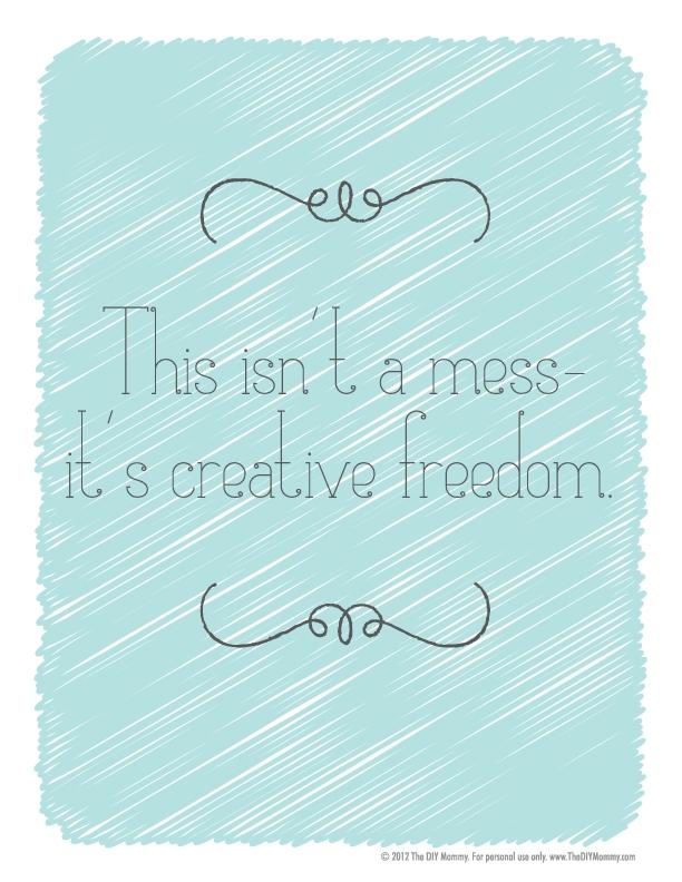 creative mess free printable