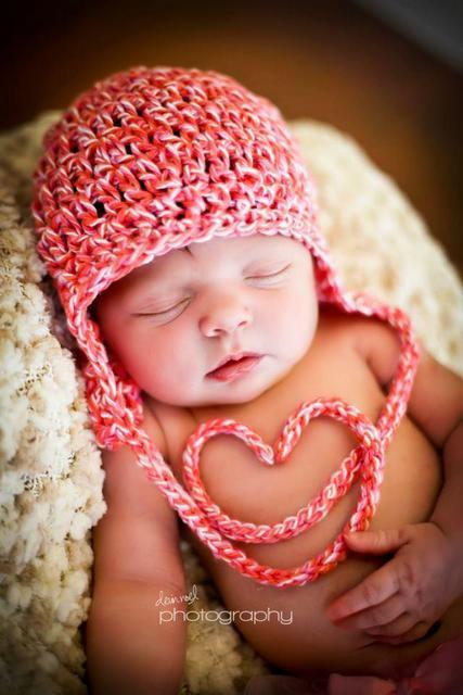 crochet valentines day baby