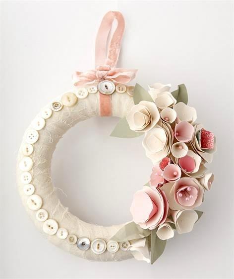 diy valentines day wreath