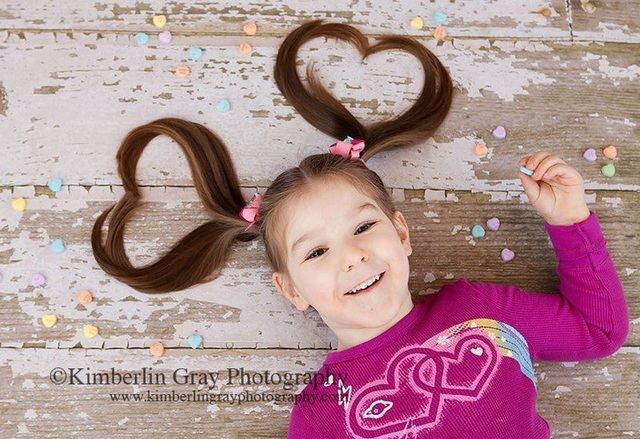 hearts ponytails photo idea