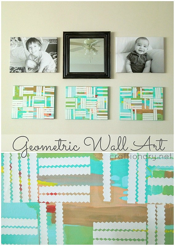 DIY geometric paintings