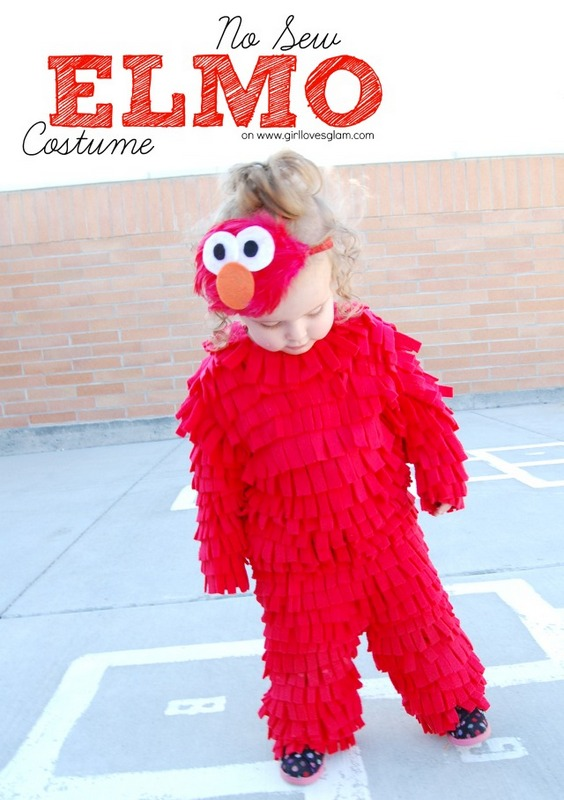 No-Sew-Elmo-Costume