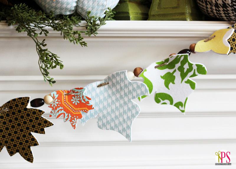fabric leaf garland
