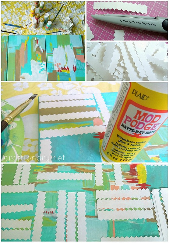 make geometric paintings tutorial