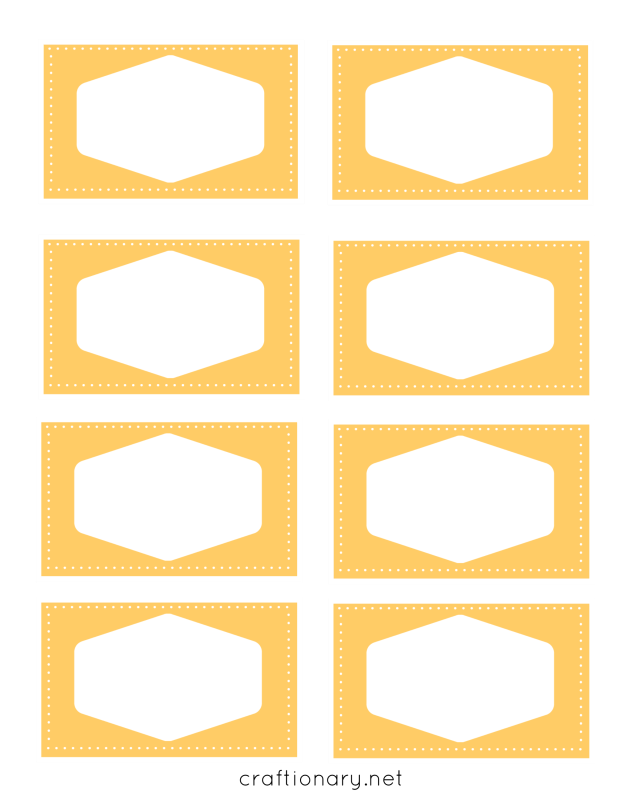 book label printables yellow