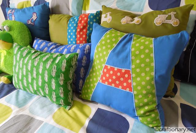 cars theme boys bedroom pillows