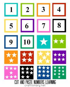 free numbers matching printable for kids
