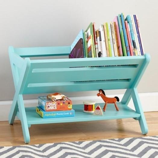 Organize books on the floor rack