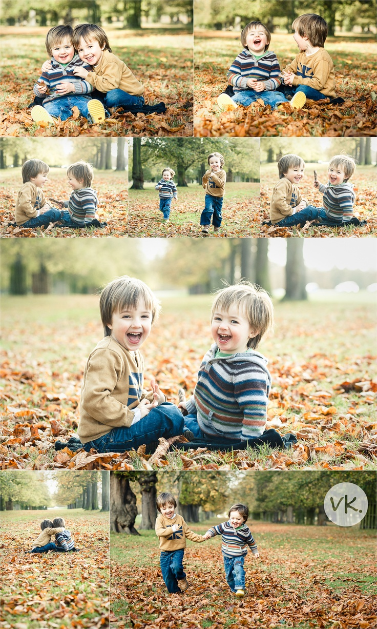 Playful boys Fall photo