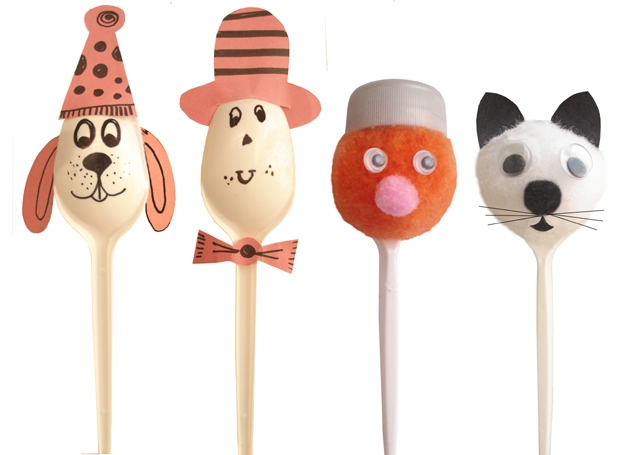 plastic spoon puppets kids craft