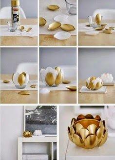 plastic spoons vase