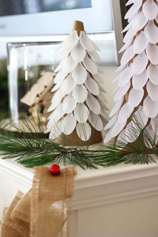 spoon trees Christmas decor