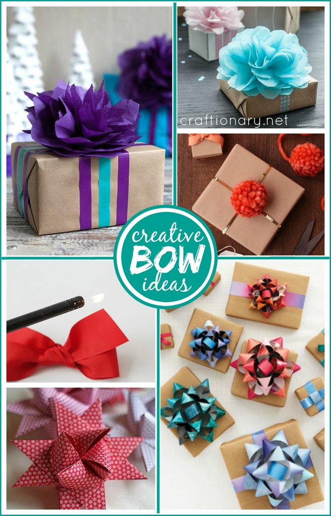 Gift wrapping bow ideas at craftionary.net