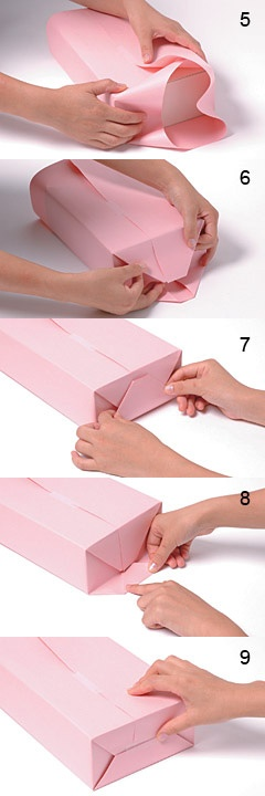 Gift wrapping guide - how to wrap the sides at craftionary.net