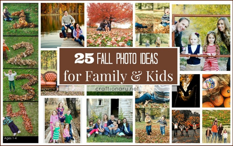 Autumn/ Fall photo ideas for family and kids at craftionary.net