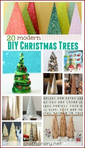 DIY Modern Christmas trees - craftionary.net