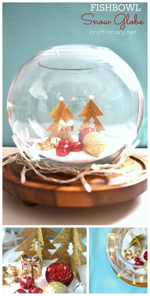 Make a fishbowl snowglobe. Easy tutorial at craftionary.net