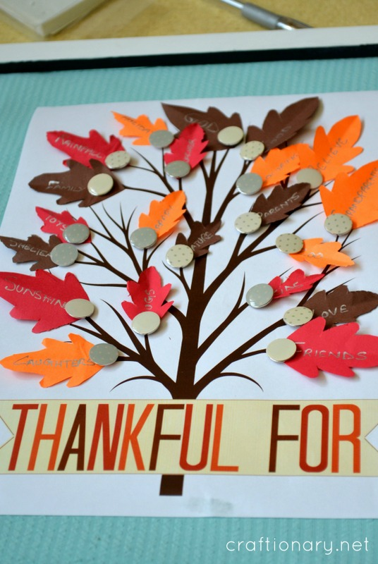 thankful for tree printable
