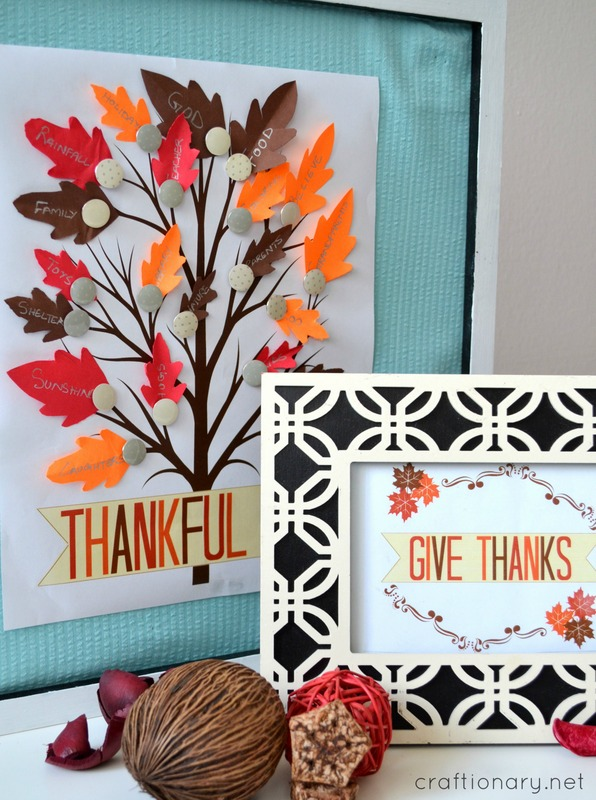 thanksgiving thankful and give thanks printables