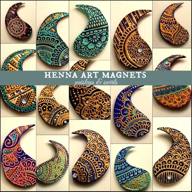 Henna art magnets