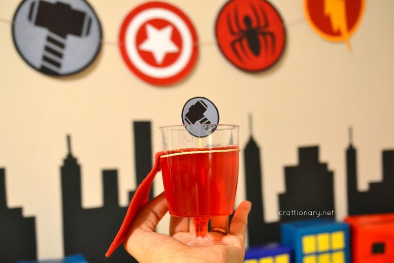 superman jello cape cups