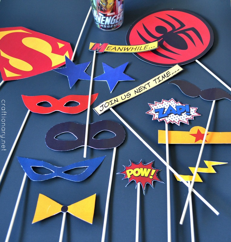 superhero photo props
