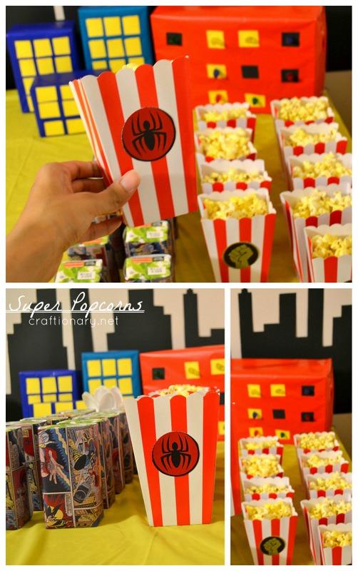 superhero popcorn bags