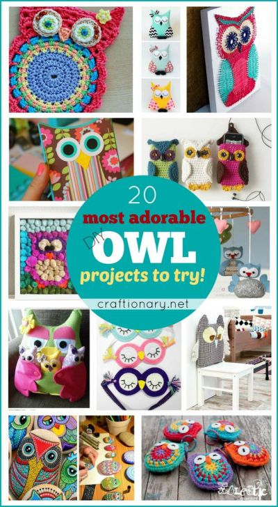 20 Most adorable DIY Owl projects to try