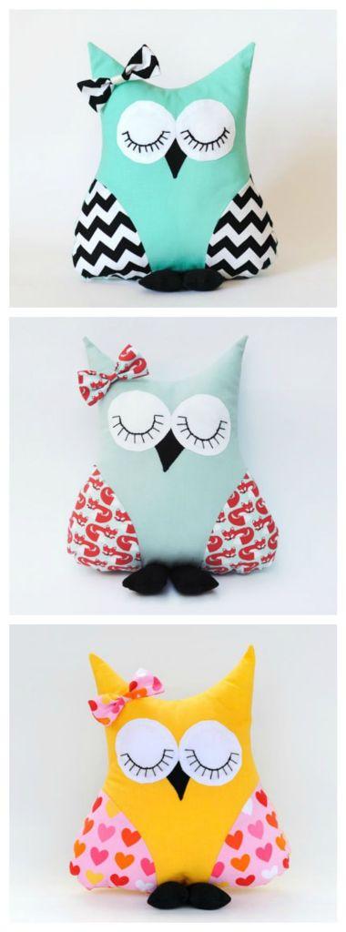DIY-modern-owl-pillows