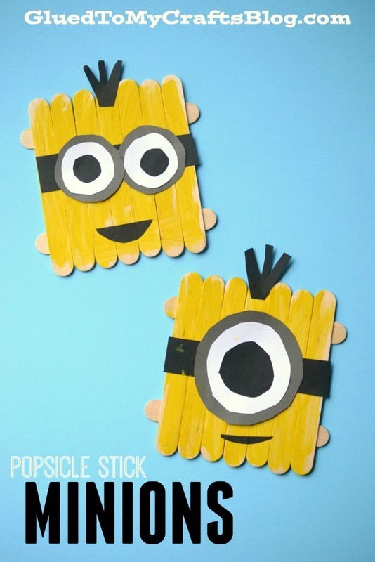 Popsicle sticks minions