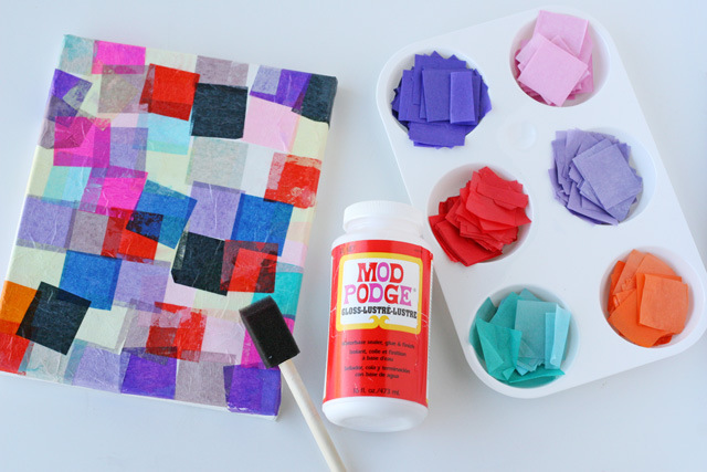 Easy mosaic craft for kids