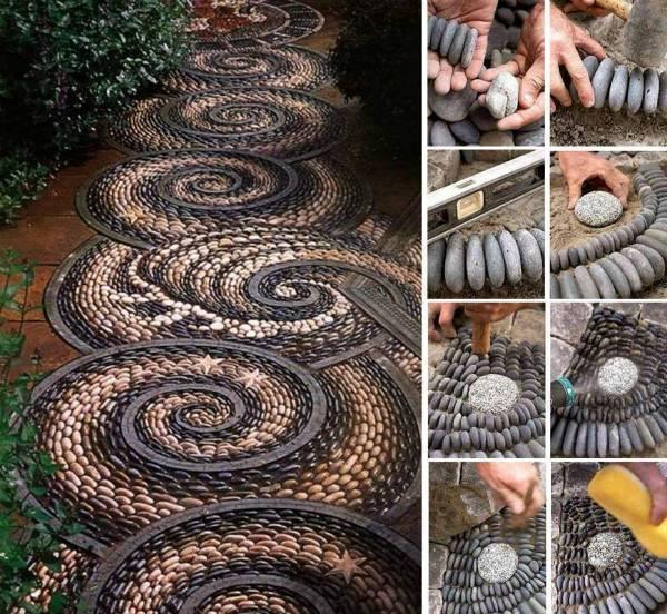 Spiral-rock-mosaic-path-tutorial