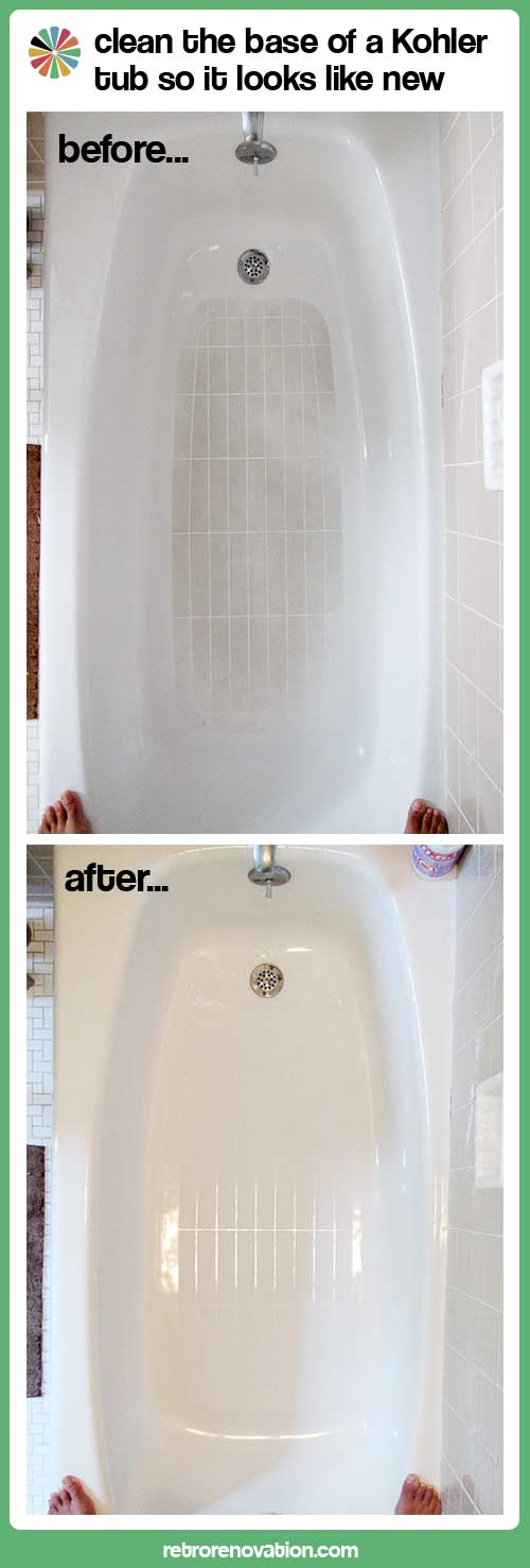 how to clean kohler tub?