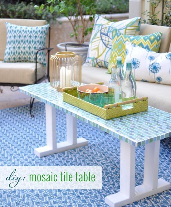 Mosaic-tile-table