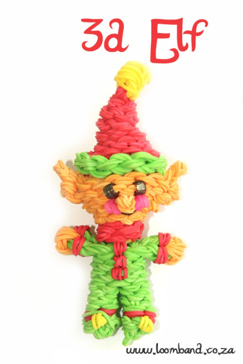 3d loom band elf