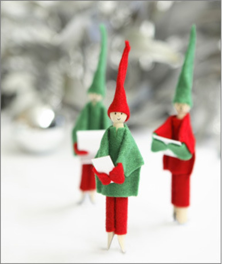 Clothes Pin Elf Doll