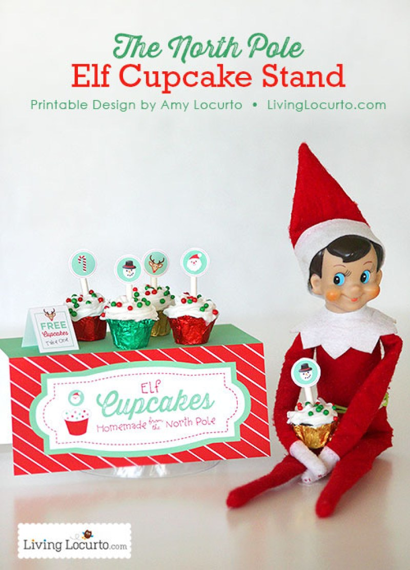 elf opens a cupcake stand