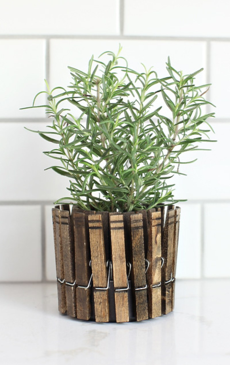 Clothes Pin Tabletop Planter