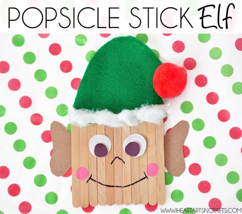 Popsicle Elf Crafts