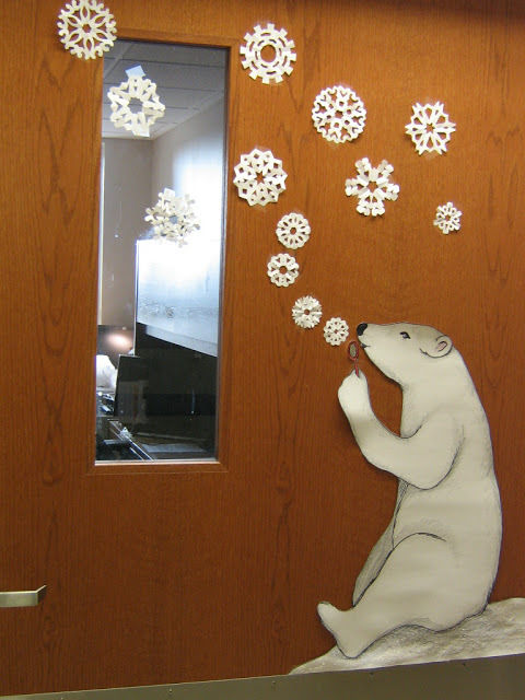 Polar Bear christmas door