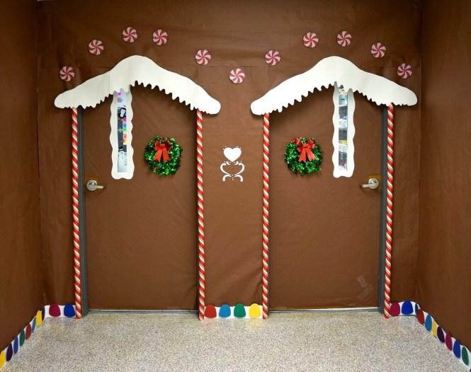 Ginger Bread House Christmas Door