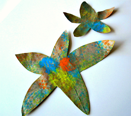 bubble wrap star fish craft