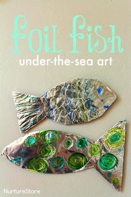foil fish under the sea craft