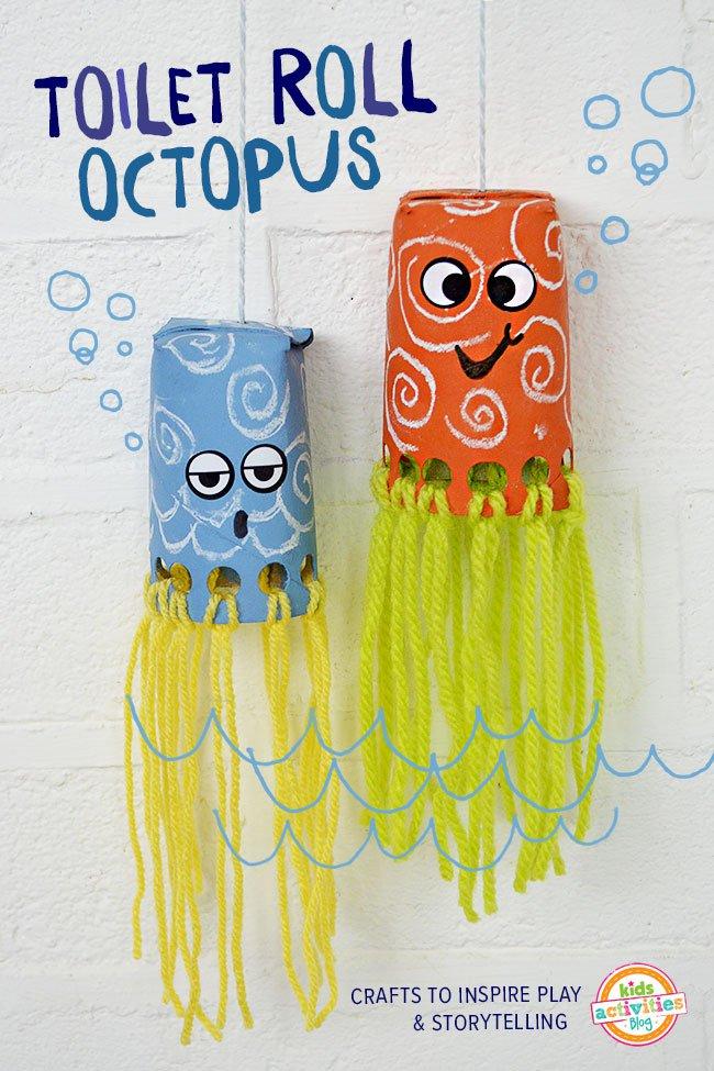Ocean creatures- toilet roll octopus